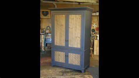 armoire  barn wood panel doors part  youtube
