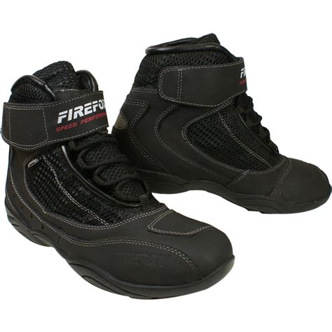 short motorbike boots firefox vented short motorcycle boots clearance