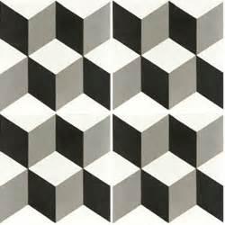 Carrelage Imitation Carreau Ciment Cube by Carreaux De Ciment D 233 Cor Cube G 233 Om 233 Trique Noir Et Blanc