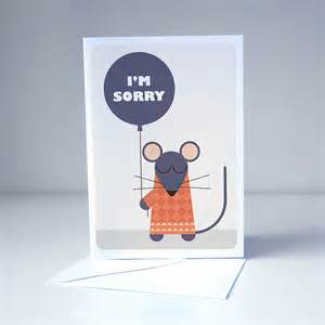 I'm Sorry Cards Printable