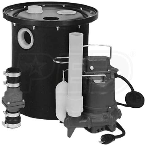 sump pump kitchen sink drain zoeller 105 0010 1 3 hp m53 remote sink drain pump