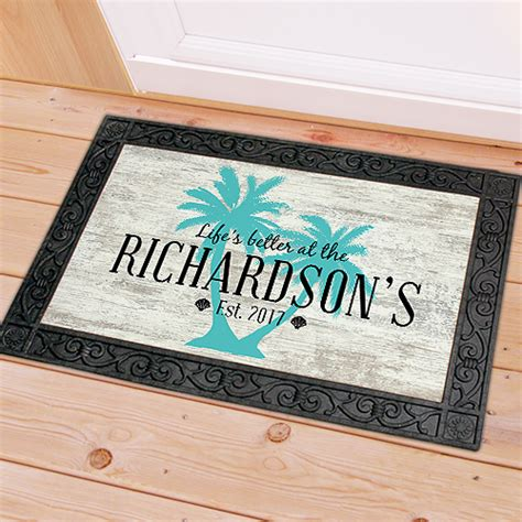 palm tree doormat personalized palm tree doormat giftsforyounow