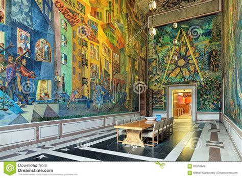 Interior Of East Gallery Krohg Room In Oslo City Hall