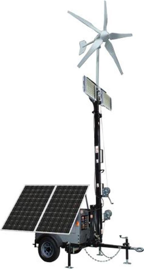 optional hybrid solar wind lighting trailer system