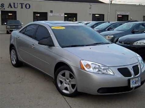 how can i learn about cars 2007 pontiac grand prix security system 2007 pontiac g6 4 door sedan dekalb il near aurora il youtube