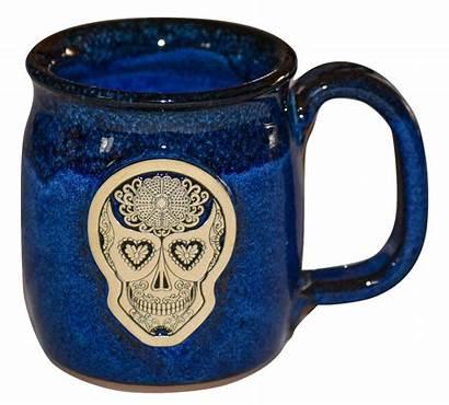 Handmade Pottery Coffee Mug Galaxy Skull Java
