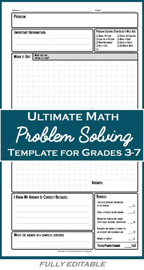 math problem solving worksheets  adults