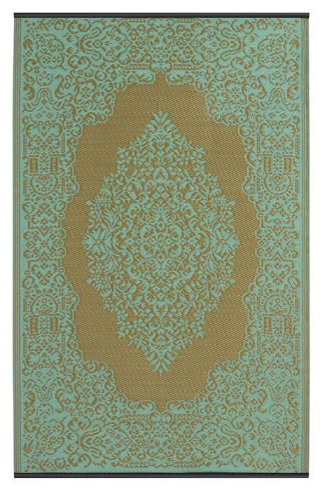 outdoor teppich günstig garten im quadrat outdoor teppich istanbul t 252 rkis wasserblau bronze orientalisches muster
