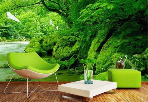 3d Green Nature Wallpaper by 3d Wallpaper Nature Green Forest Creek Tv Background