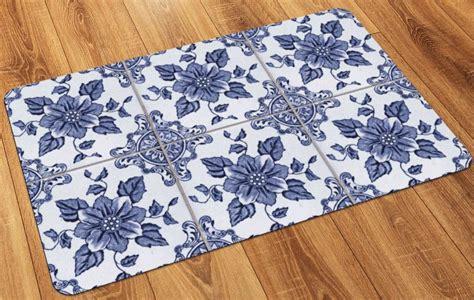 faux flooring printed tile floor mat