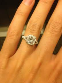 cushion engagement ring cushion cut halo engagement ring wedding