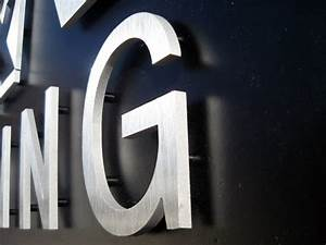 dimensional metal letters and logos are our trademark With brushed aluminum dimensional letters