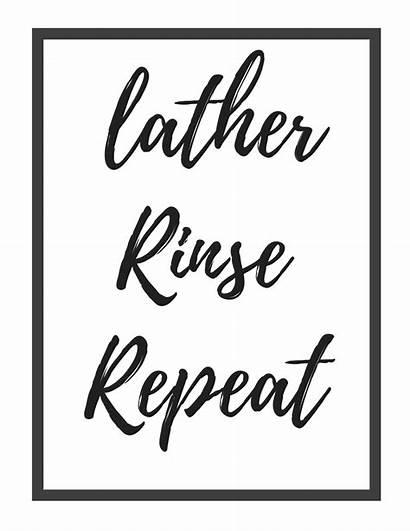 Bathroom Printables Lather Rinse Repeat Decor Printable