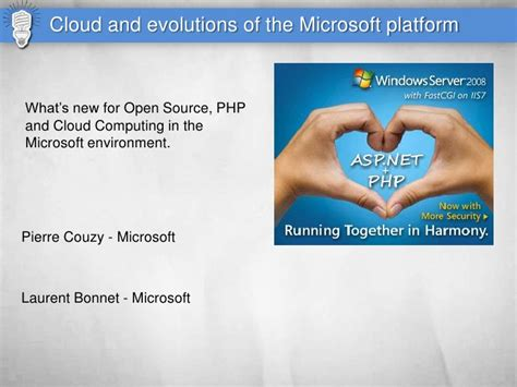 php cloud php cloud and microsoft symfony live 2010