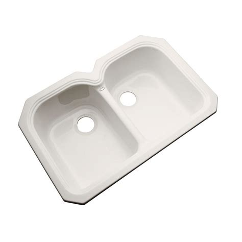 thermocast hartford undermount acrylic 33 in basin kitchen sink in bone 44001 um the