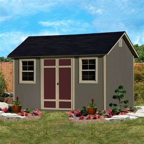 wilmington 12 x 8 wood storage shed solid 2 quot x 4 quot wood