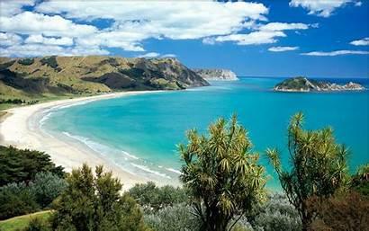 Zealand Desktop Beach Wallpapers Computer Bay Ocean