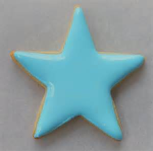 Decorated Shortbread Cookies by My Cookie Clinic Star Cookies Starry Night