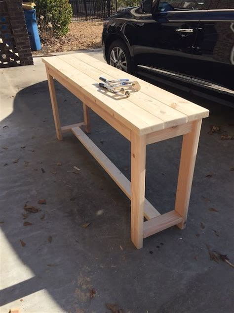 brace console table diy furniture plans woodworking