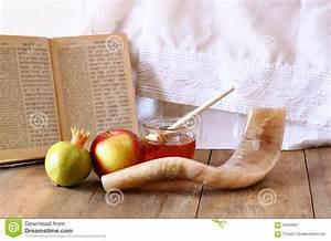 Rosh Hashanah (jewesh Holiday) Concept - Shofar, Torah ...