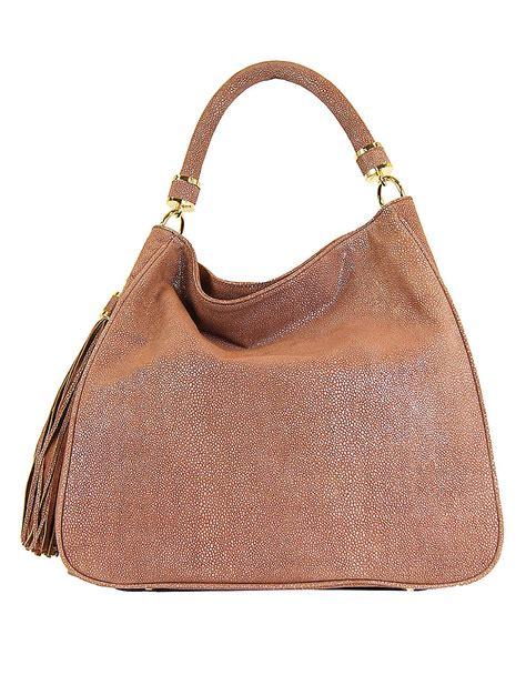 lyst ivanka trump pebbled leather hobo bag  pink