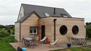 extension ossature bois extension bois pinterest With beautiful maison toit plat bois 0 extension maison agrandissement ossature bois
