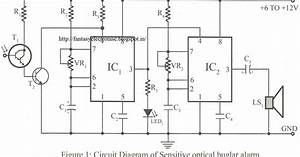 Fantasyelectronics  Sensitive Optical Burglar Alarm Using