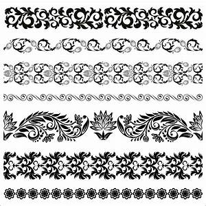 Floral Border Pattern Flowers Vector Vintage Ornamental ...