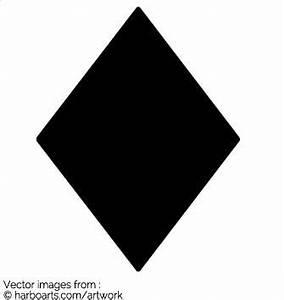 Download : Black Diamond Shape - Vector Graphic