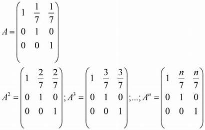 Matrices Induction Powers Mathematical Method Example