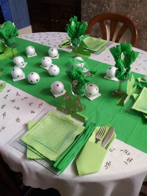 la table th 232 me le football album photos la deco romantique de nathalie