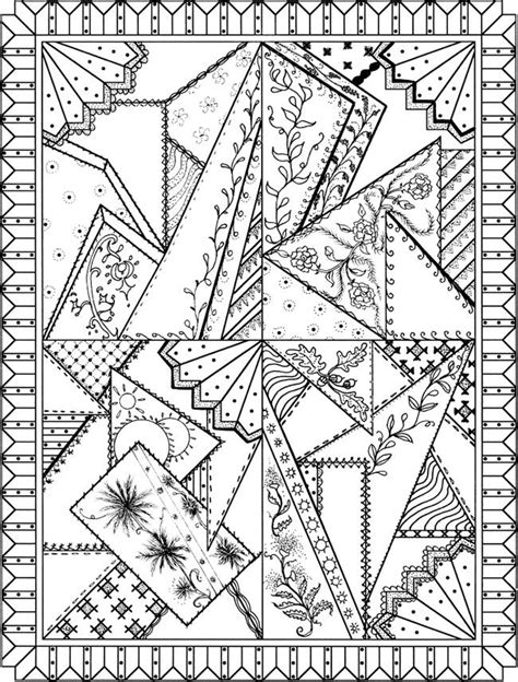patchwork quilt designs coloring book patchwork