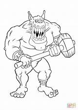 Coloring Pages Gremlins Gremlin Scary Giant Ogre Trolls Gizmo Colouring Troll Printable Robot Firefly Very Characters Creatures Giants Template sketch template
