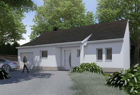 plan maison 3 chambres plain pied garage plan de maison de 80m2 plein pied maison cohen modle de