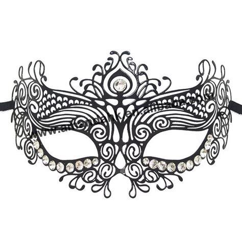 mask  decorated  shinning rhinestones
