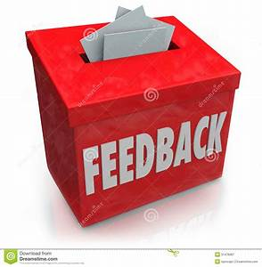 Feedback Suggestion Box Collecting Thoughts Ideas Stock ...