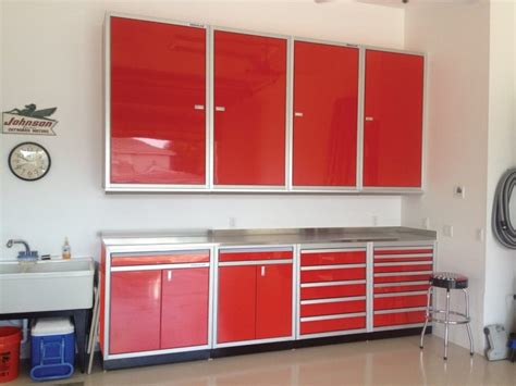red and black garage cabinets gallery of garage shop aluminum cabinets moduline part 4