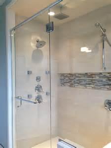 bathroom niche ideas grey mosaic ceramic tile horizontal shower niche with
