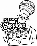 Disco Coloring Shopkins Microphone Items sketch template
