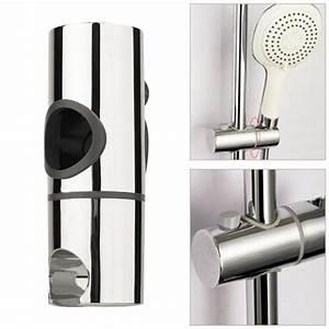 25mm, Abs, Chrome, Shower, Rail, Head, Slider, Holder, Shower, Holder, Adjustable, Bracket, Standard