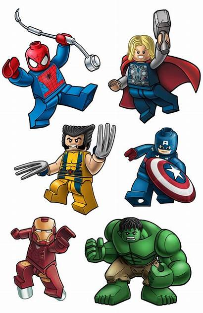 Lego Hulk Clip Thor Wolverine Ironman Spiderman
