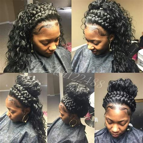 Half Sew In Weave Hairstyles by Thinking About Braiding My Hair Like That And Then Putting