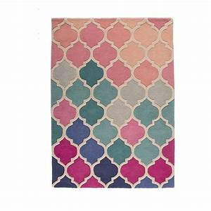 tapis bleu et rose rosella flair rugs 80x150 With tapis rose et blanc
