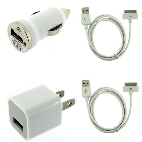 iphone 4s charger usb ac home wall car charger data cable for ipod touch
