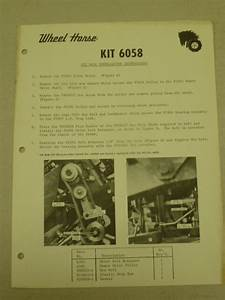 Wheel Horse Tractor Installation Instructions For Kit 6058