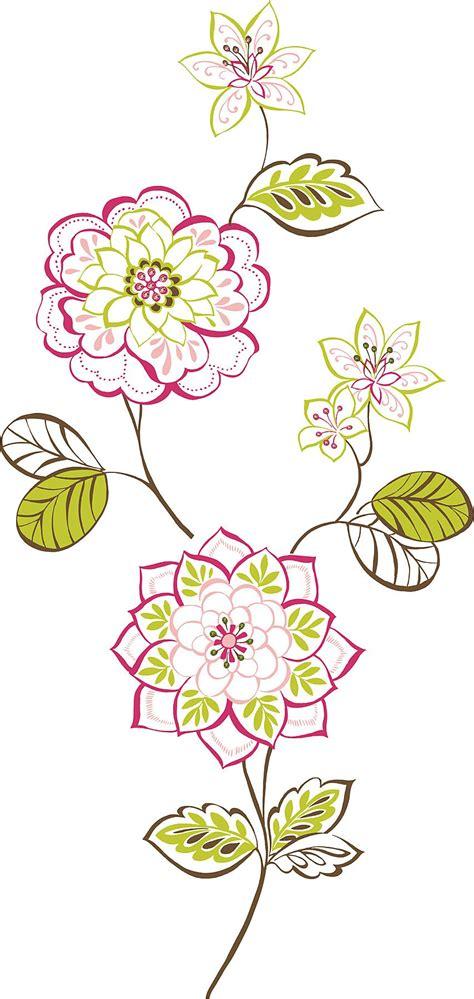 stickers pot de fleurs des fleurs floral wall sticker kit