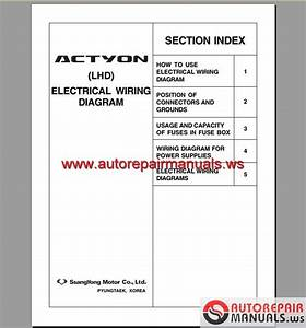 Ssangyong Actyon  Actyon Sport Service Manuals And