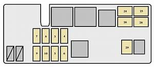 Toyota T100  1993 - 1998  - Fuse Box Diagram