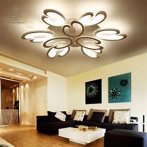 Aliexpress, Com, Buy, White, Fashion, Flower, Modern, Led, Ceiling, Light, Living, Room, Rc, Dimmable