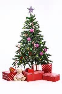 christmas tree with gifts on white background photo free download